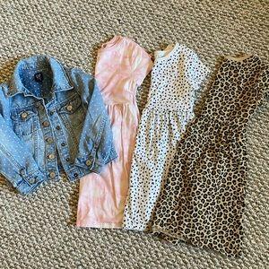 Toddler Girl 4T Gap Jacket & Old Navy Dresses